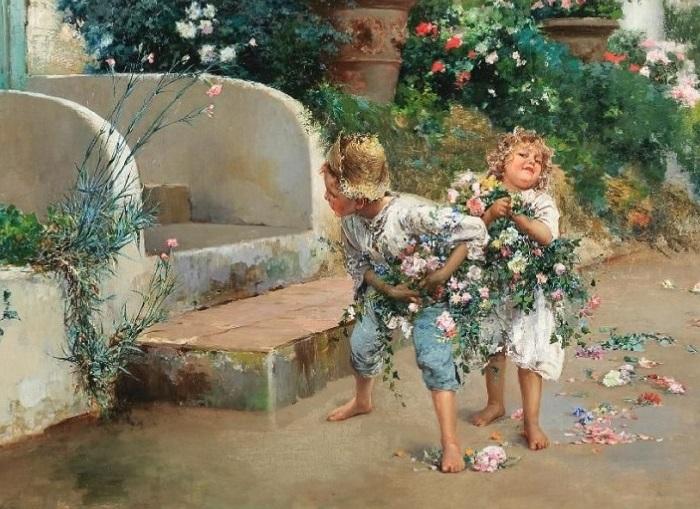 Маленькие воришки (Little thieves). Автор: Винченцо Иролли.| Фото: gallerix.ru.