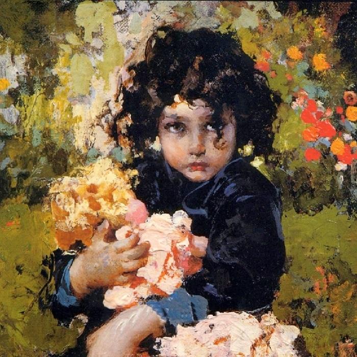 Девочка с куклой (Girl with a doll). Автор: Винченцо Иролли.| Фото: gallerix.ru.