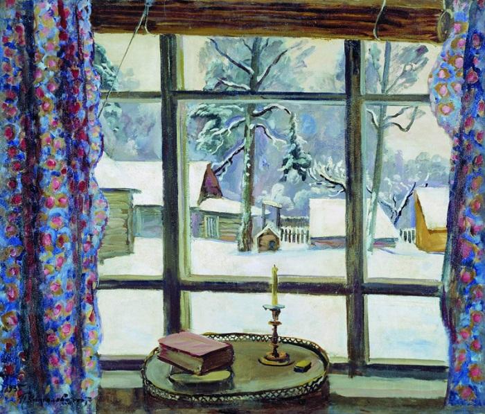 Окно поэта. 1935 год. Автор: П. П. Кончаловский.