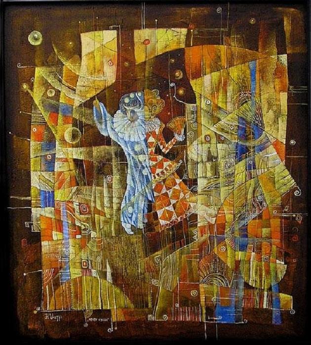 Артисты после выступления.  Метареализм от Наталии Шатровой.
