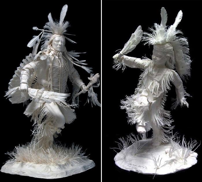 Бумажные скульптуры от Пэтти и Аллена Экман.