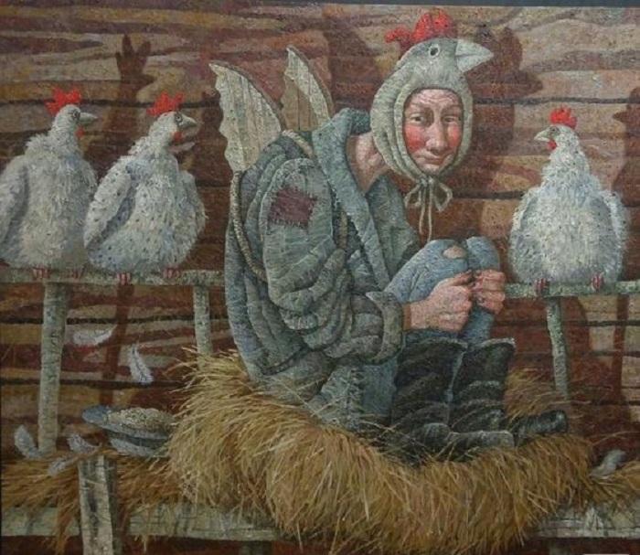 Курица не птица. Живопись от Меренкова Сергея.