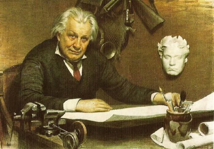 Портрет архитектора А.Н. Душкина. Автор: Александр Лактионов.