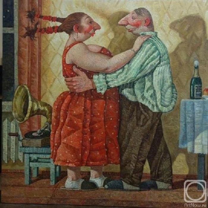 Кто девушку ужинает, тот её и танцует. Живопись от Меренкова Сергея.