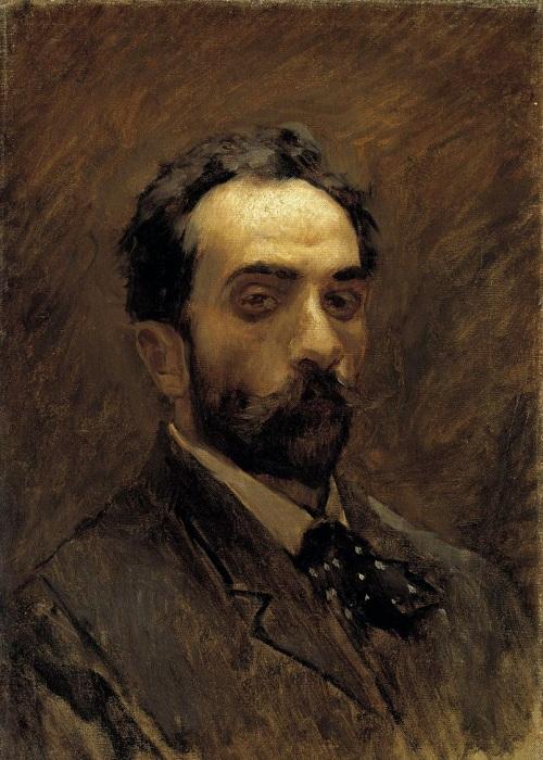 Автопортрет. (1890-е). Автор: Исаак Левитан.