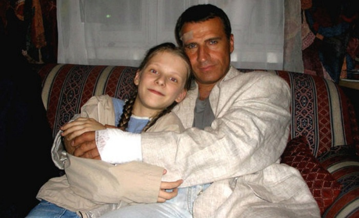 Александр Дедюшко с дочерью.