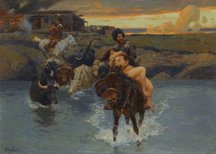 «Похищение». Автор: Франц Алексеевич Рубо.