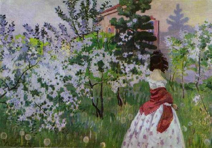В.Э. Борисов-Мусатов.«Весна». 1898—1901 Холст, масло. 71 х 98 см Государственный Русский музей, Санкт-Петербург