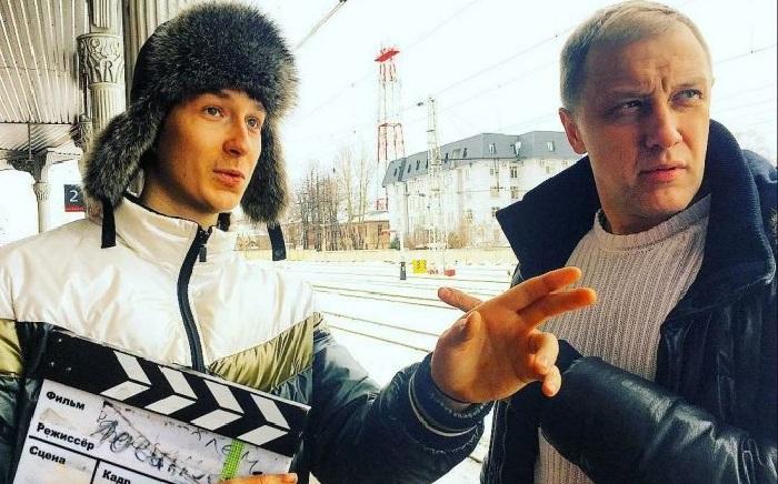 Сергей со старшим сыном Глебом.