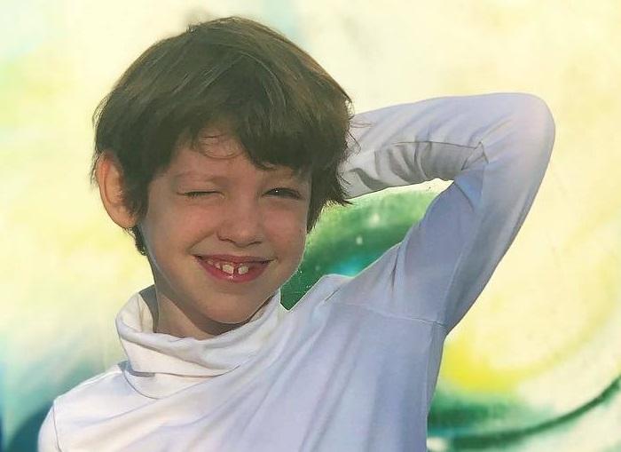 Максим - начинающая модель. Сын Лянки Грыу и Михаила Вайнберга.