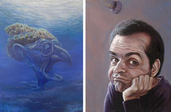 «Жак-Ив Кусто». «Метр-Шендерович». Карикатуры и шаржи от художника Дениса Лопатина