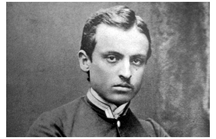 Портрет Генрика Сенкевича в юности.