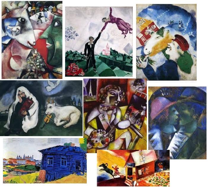 Самые известные полотна художника Марка Шагала.