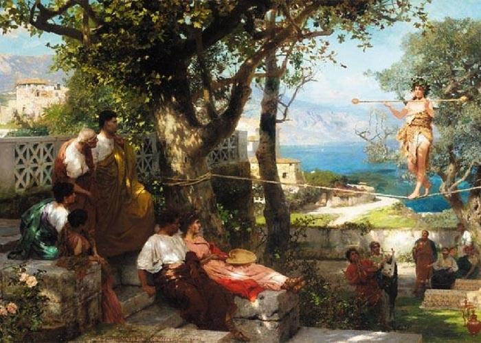 Танцовщица на канате. (1898 год). Автор: Генрих Семирадский.