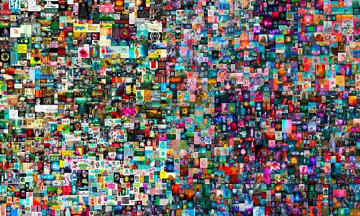 «Каждый день: первые пять тысяч дней» («Everydays: The First 5000 Days»).  Автор: Майк Винкельманн (Beeple).