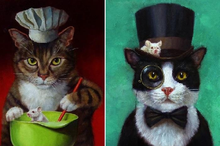 Кошки-мышки. Автор: Lucia Heffernan.
