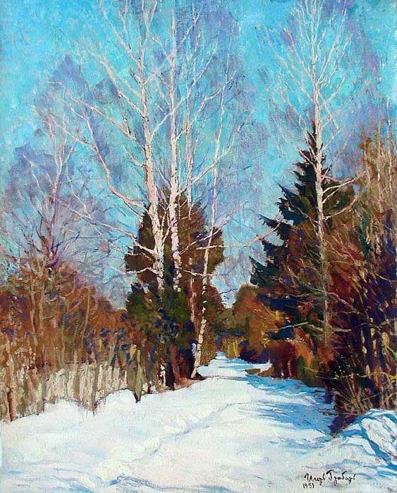 Зимний лес. Автор: Игорь Грабарь.