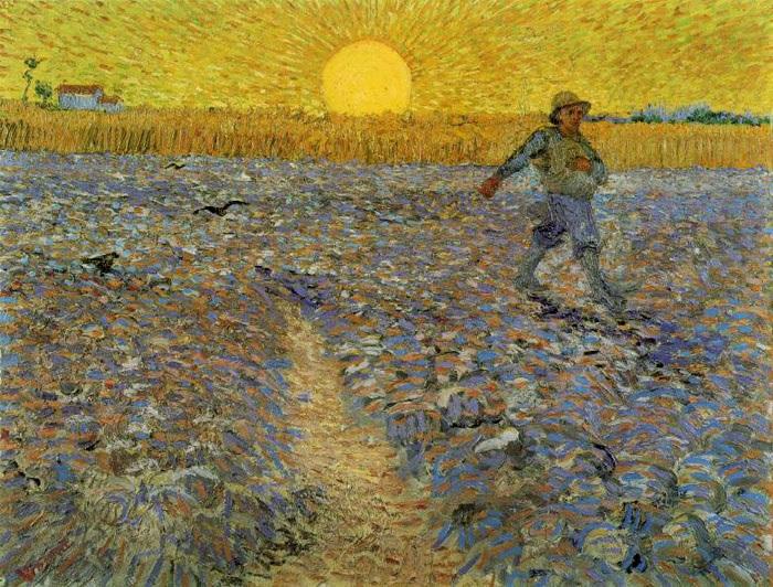 Сеятель и закат. Автор: Ван Гог.