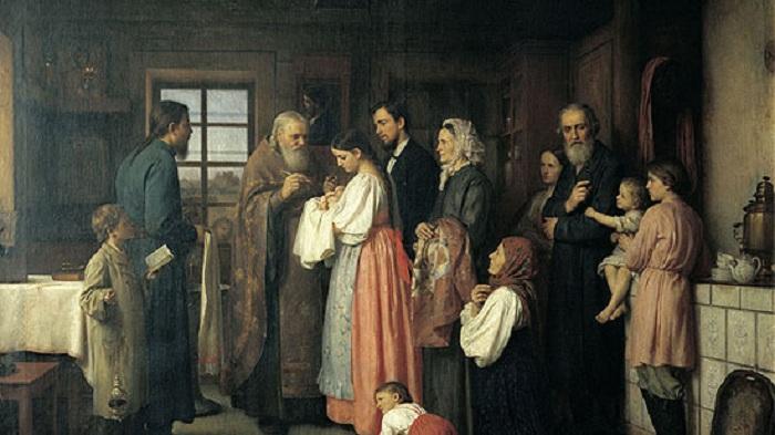 Крещение младенца. Автор: Корнеев А.Е.