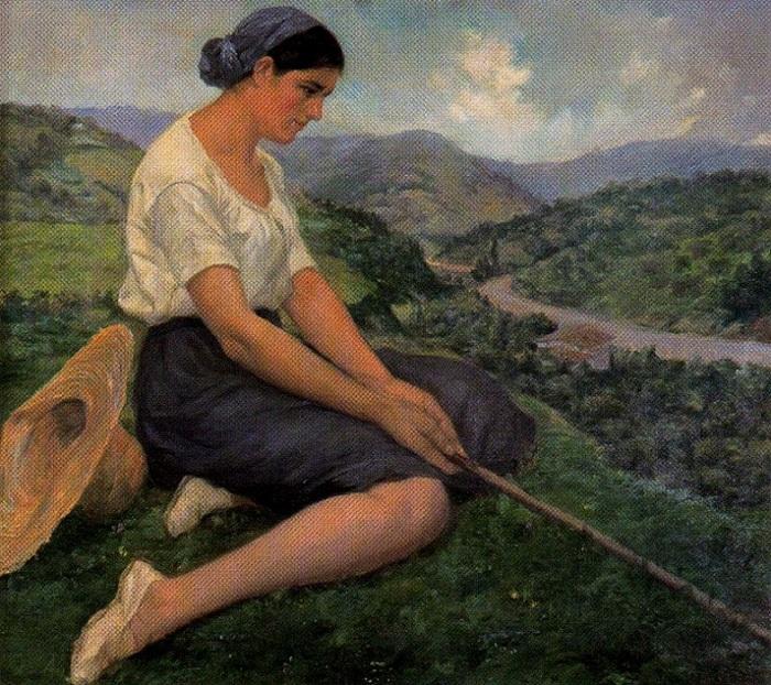 «Пастушка». (1933 год). Автор: Сальвадор Диас Игнасио Руис де Олано.
