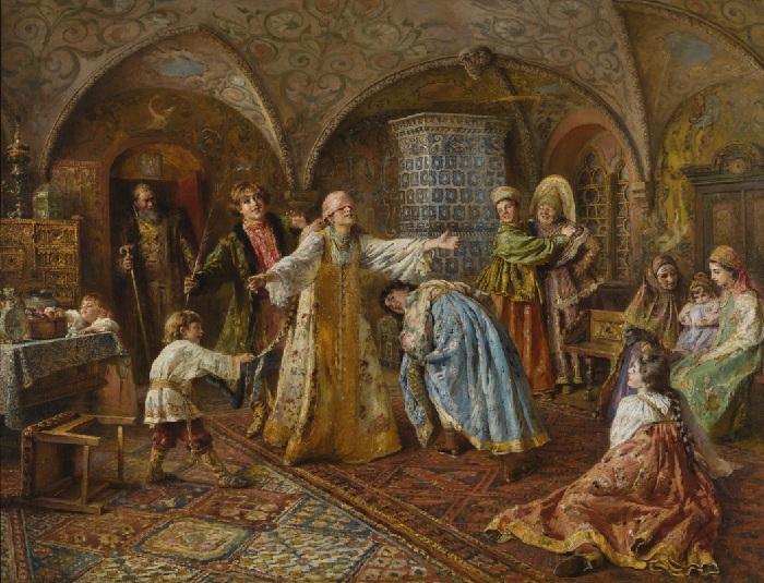 Маковский Константин Егорович (1839-1915). Игра в жмурки. (1890-е годы).