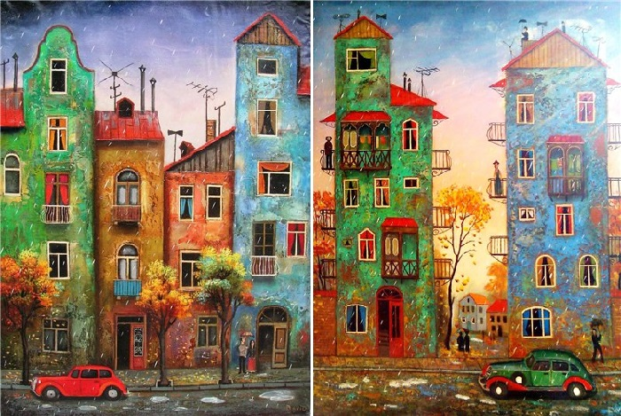 Живопись Давида Мартиашвили.