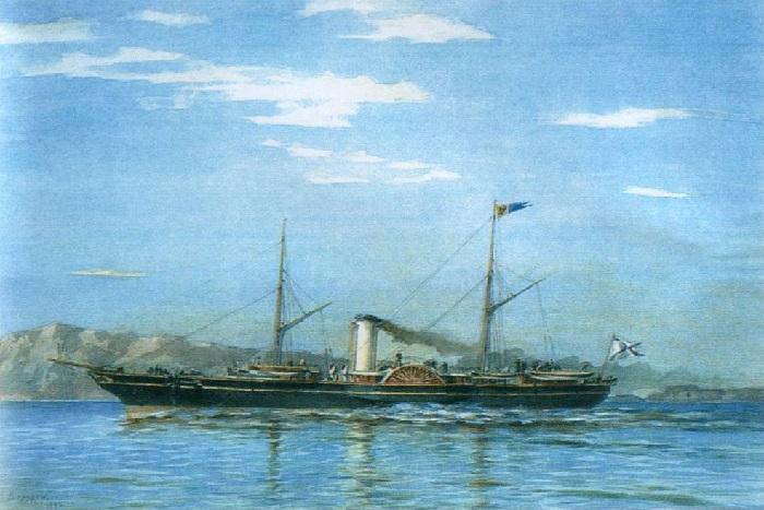 «Императорская яхта «Штандарт» (1858—1879)», (1892) — Центральный военно-морской музей. Автор: Александр Беггров.
