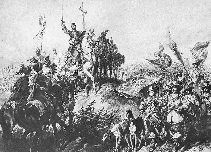 Князь Иеремия Вишневецкий, дающий клятву. Иллюстрации к роману «Огнем и мечом» Юлиуша Коссака.
