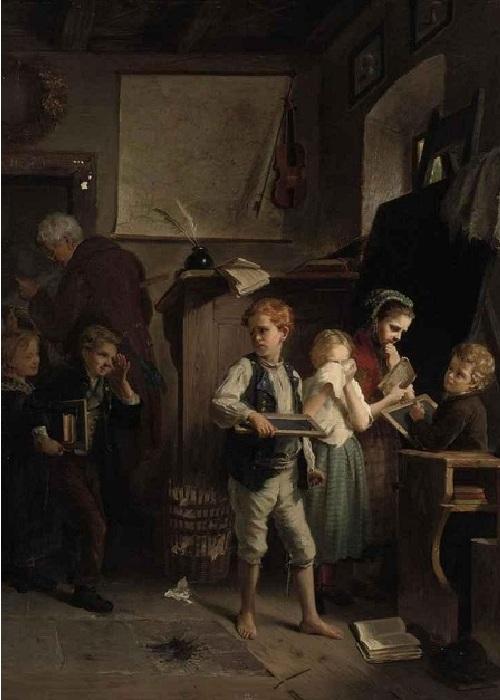 «Школа». Автор: Август Хейн.