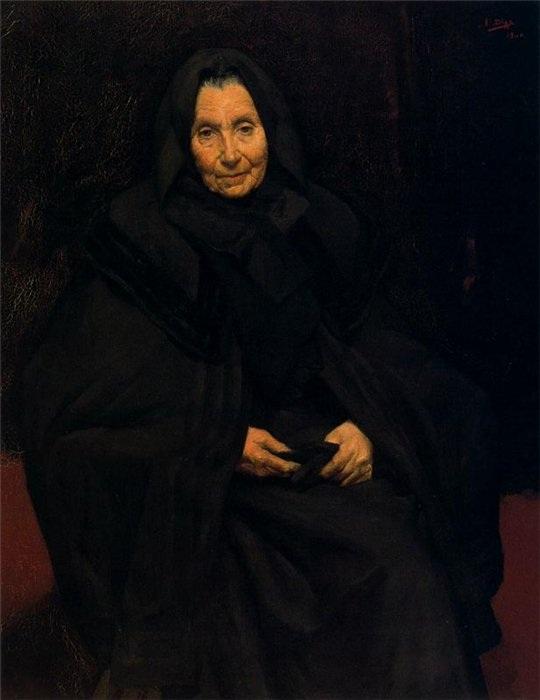 «Портрет матери. Доменика Руис де Олано». (1906 год). Автор: Сальвадор Диас Игнасио Руис де Олано.