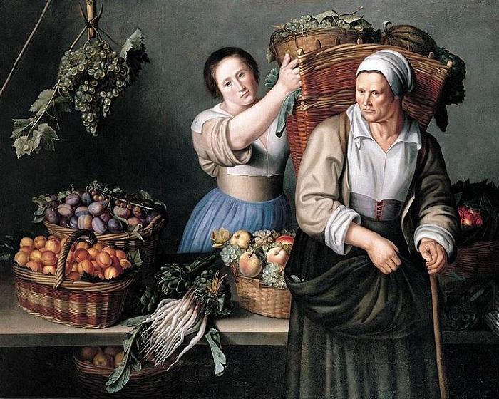 Продавщица овощей. Париж, Лувр. Автор: Луиза Муайон.