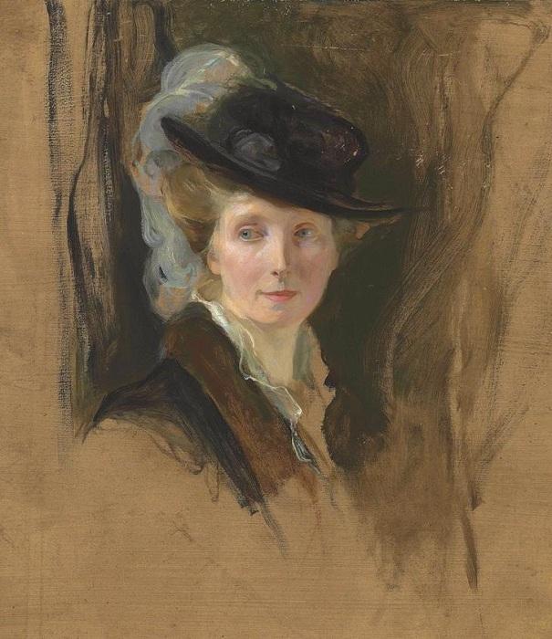 Жена художника Люси де Ласло урожденная Гиннес.