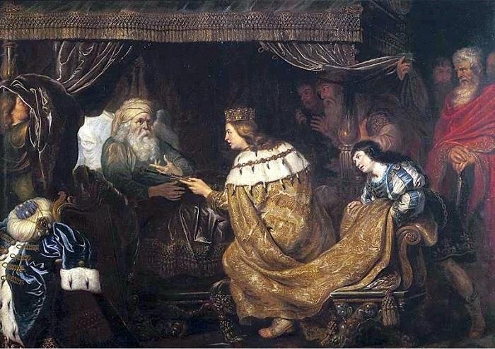Царь Давид передает скипетр Соломону. Автор: Корнелис де Вос.