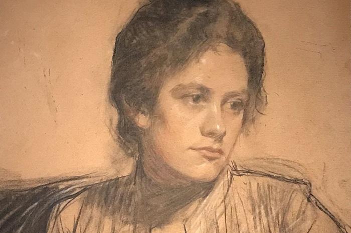 Юлия Прошинская. Графический рисунок Бориса Кустодиева.