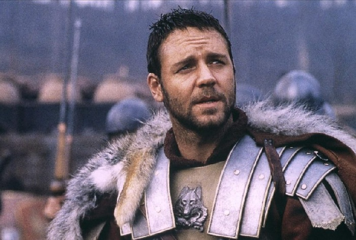 Кадр из кинофильма «Гладиатор» (2000). Рассел Кроу в роли генерала Максимуса.