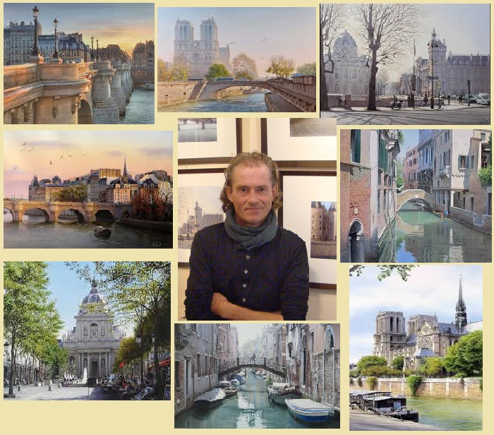 Очарование европейских городов в акварельных работах французского художника Тьерри Дюваля.