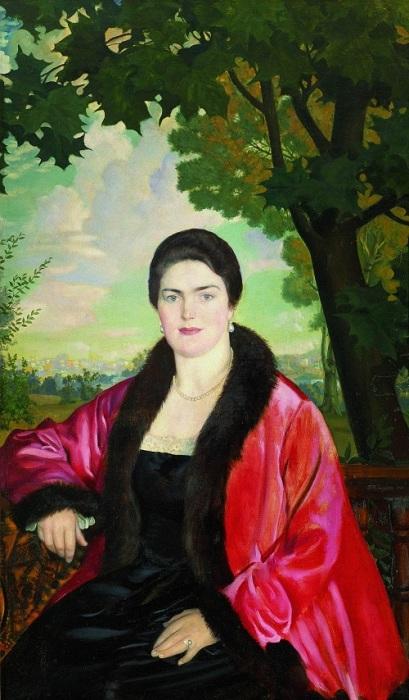 Мария Валентиновна Петцольд. Автор: Борис Кустодиев.