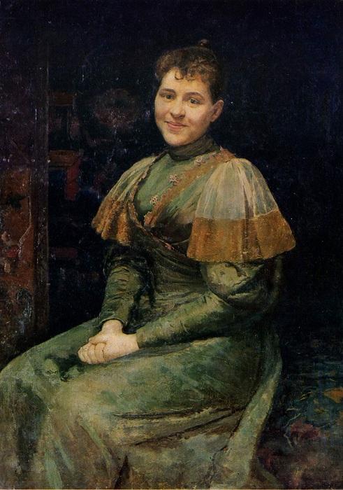 Портрет жены художника, Александры Владимировны Пимоненко.