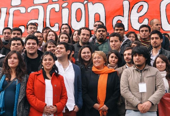 Встреча Мишель Бачелет с лидерами студенчества.