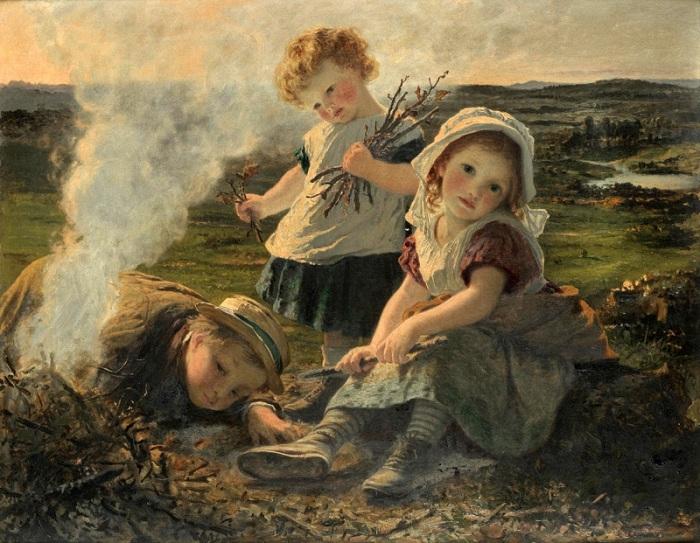 Софи Дженгембре Андерсон (1823-1903). Англия. Костер.