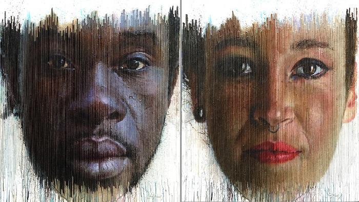 Мужчина и женщина.Трехмерные портреты художника Серджи Каденаса. ¦ Фото: gooodnews.ru.