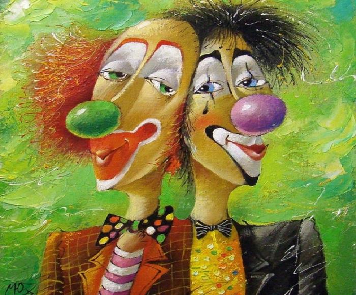 «Два клоуна». Художник: Юрий Мацик.