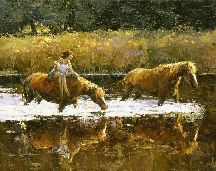 На реке. Автор: Алексей Зайцев.