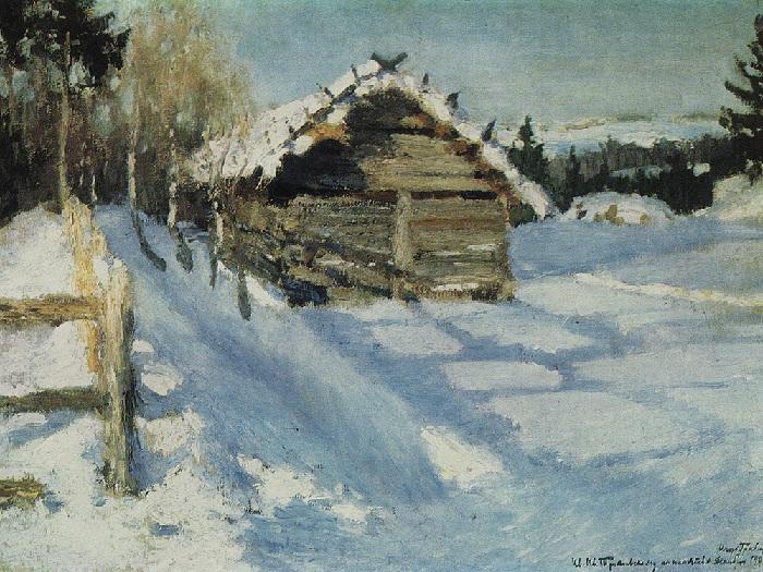 Зимний вечер. 1903 год. Автор: Игорь Грабарь.