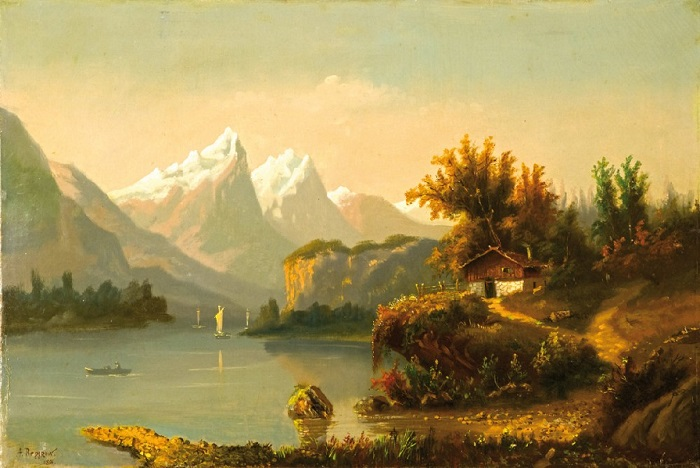 «Горное озеро», 1894 Частное собрание. Автор: Александр Беггров.
