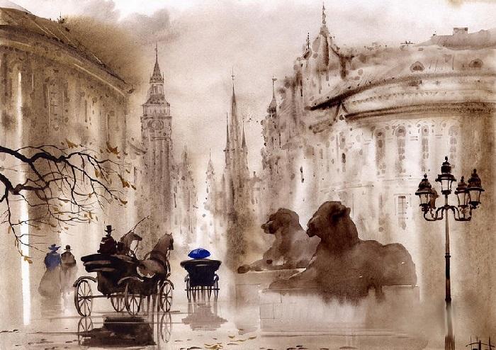 Лондон. Туманные пейзажи от Светланы и Сабира Гаджиевых.