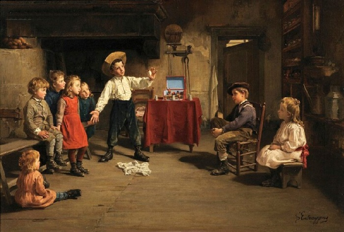 Шарль Бертран д'Энтрейг (1850-1929). Франция. Юный маг.