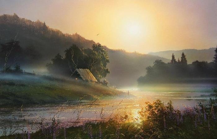 «Утро туманное». Автор: Виктор Юшкевич.