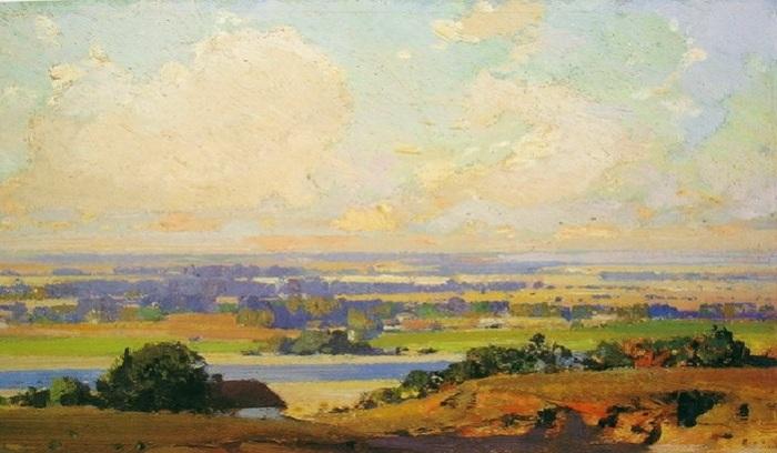 Украинский пейзаж. Автор: Иван Мясоедов.