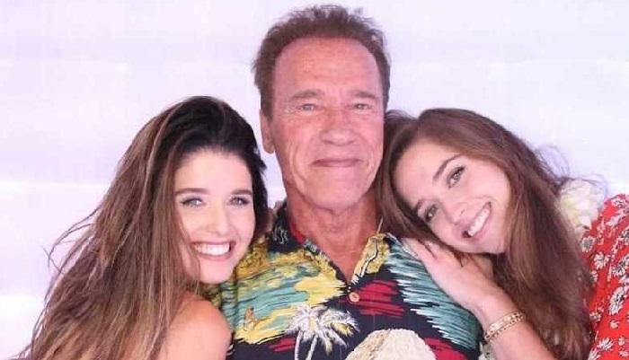 Арнольд Шварценеггер с дочерьми.